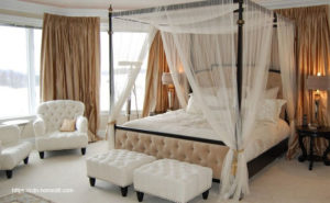 Generate a Romantic Bedroom With a Canopy Bed